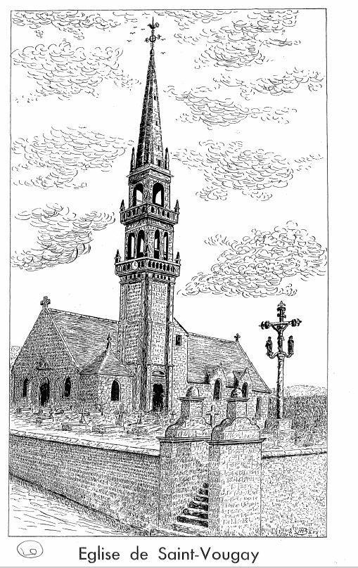 L'église à Saint-Vougay