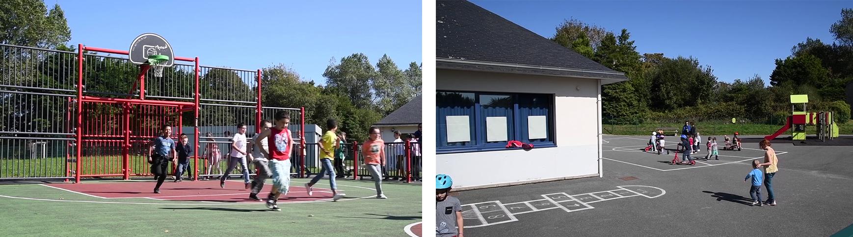 L'école et la cantine à Saint-Vougay\